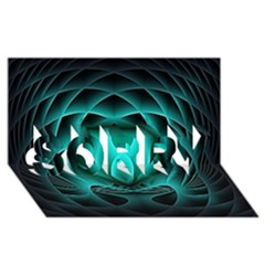 Swirling Dreams, Teal SORRY 3D Greeting Card (8x4)