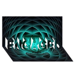 Swirling Dreams, Teal ENGAGED 3D Greeting Card (8x4)