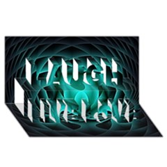 Swirling Dreams, Teal Laugh Live Love 3D Greeting Card (8x4)