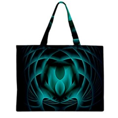 Swirling Dreams, Teal Zipper Tiny Tote Bags