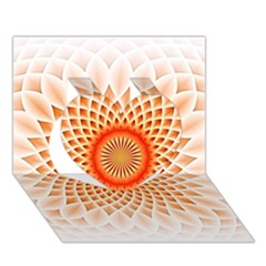 Swirling Dreams,peach Heart 3D Greeting Card (7x5)