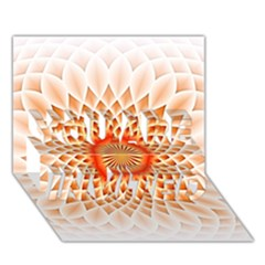 Swirling Dreams,peach You Are Invited 3d Greeting Card (7x5)