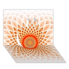 Swirling Dreams,peach Apple 3D Greeting Card (7x5)