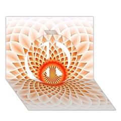 Swirling Dreams,peach Peace Sign 3d Greeting Card (7x5)