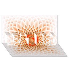 Swirling Dreams,peach BEST BRO 3D Greeting Card (8x4)