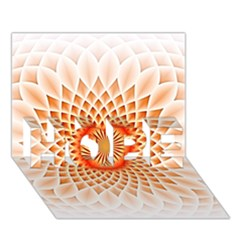 Swirling Dreams,peach HOPE 3D Greeting Card (7x5)
