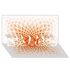 Swirling Dreams,peach ENGAGED 3D Greeting Card (8x4)