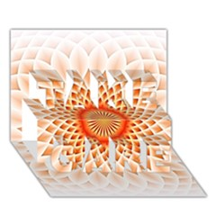 Swirling Dreams,peach TAKE CARE 3D Greeting Card (7x5)