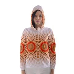 Swirling Dreams,peach Hooded Wind Breaker (Women)