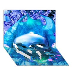 Skull Worship LOVE Bottom 3D Greeting Card (7x5)