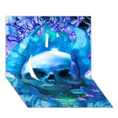 Skull Worship Apple 3d Greeting Card (7x5)