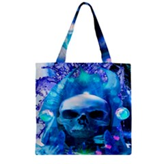 Skull Worship Zipper Grocery Tote Bags