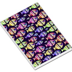 Colorful Fishes Pattern Design Large Memo Pads
