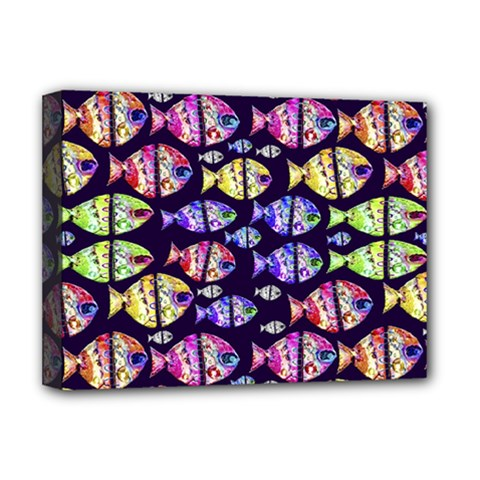 Colorful Fishes Pattern Design Deluxe Canvas 16  x 12