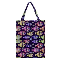 Colorful Fishes Pattern Design Classic Tote Bags