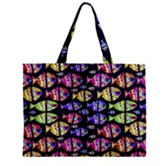 Colorful Fishes Pattern Design Zipper Tiny Tote Bags