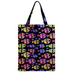 Colorful Fishes Pattern Design Zipper Classic Tote Bags