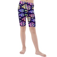 Colorful Fishes Pattern Design Kid s swimwear