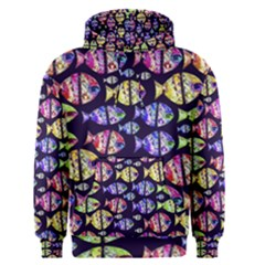 Colorful Fishes Pattern Design Men s Pullover Hoodies