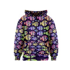 Colorful Fishes Pattern Design Kids Zipper Hoodies