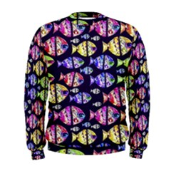 Colorful Fishes Pattern Design Men s Sweatshirts