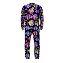 Colorful Fishes Pattern Design Onepiece Jumpsuit (kids)