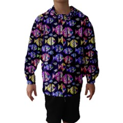 Colorful Fishes Pattern Design Hooded Wind Breaker (Kids)