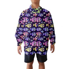 Colorful Fishes Pattern Design Wind Breaker (Kids)