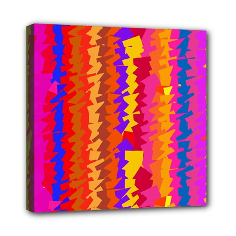 Colorful pieces Mini Canvas 8  x 8  (Stretched)