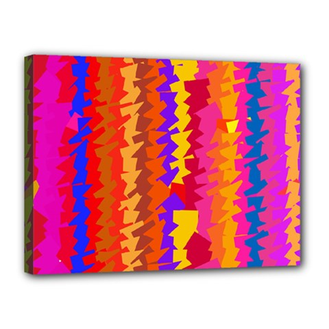 Colorful pieces Canvas 16  x 12  (Stretched)