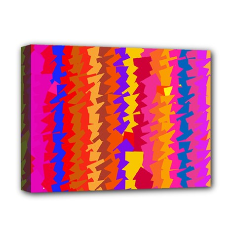 Colorful pieces Deluxe Canvas 16  x 12  (Stretched)