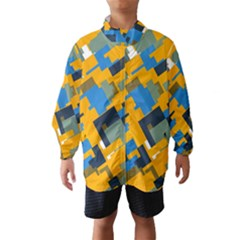 Blue yellow shapes Wind Breaker (Kids)
