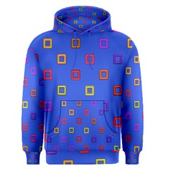 3d Squares On A Blue Background Men s Pullover Hoodie