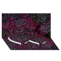 Fantasy City Maps 1 Twin Heart Bottom 3D Greeting Card (8x4)