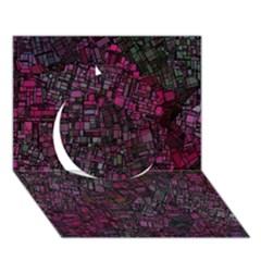 Fantasy City Maps 1 Circle 3d Greeting Card (7x5)
