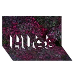 Fantasy City Maps 1 HUGS 3D Greeting Card (8x4)