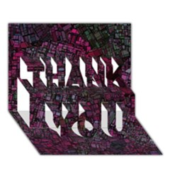 Fantasy City Maps 1 THANK YOU 3D Greeting Card (7x5)