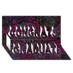 Fantasy City Maps 1 Congrats Graduate 3d Greeting Card (8x4)
