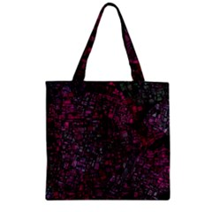 Fantasy City Maps 1 Zipper Grocery Tote Bags