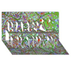 Fantasy City Maps 2 Happy Birthday 3D Greeting Card (8x4)