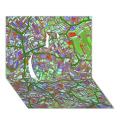 Fantasy City Maps 2 Apple 3d Greeting Card (7x5)