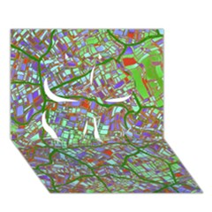 Fantasy City Maps 2 Clover 3D Greeting Card (7x5)