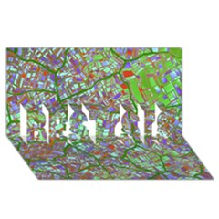 Fantasy City Maps 2 Best Sis 3d Greeting Card (8x4)