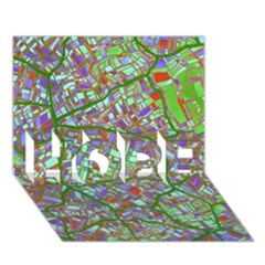 Fantasy City Maps 2 Hope 3d Greeting Card (7x5)