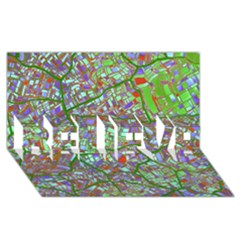 Fantasy City Maps 2 BELIEVE 3D Greeting Card (8x4)