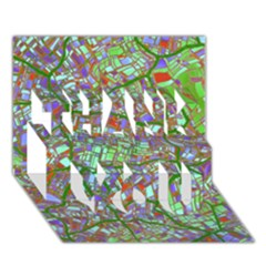 Fantasy City Maps 2 THANK YOU 3D Greeting Card (7x5)