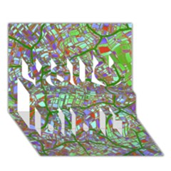 Fantasy City Maps 2 You Did It 3D Greeting Card (7x5)