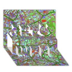 Fantasy City Maps 2 Get Well 3D Greeting Card (7x5)