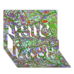 Fantasy City Maps 2 You Rock 3d Greeting Card (7x5)