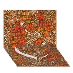 Fantasy City Maps 3 Heart Bottom 3D Greeting Card (7x5)